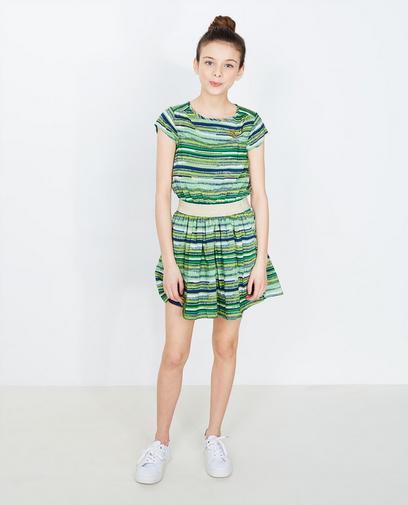 Grünes gestreiftes Kleid